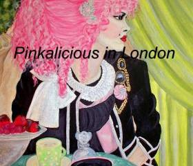 Large Print of my Painting title (Pink Hair).